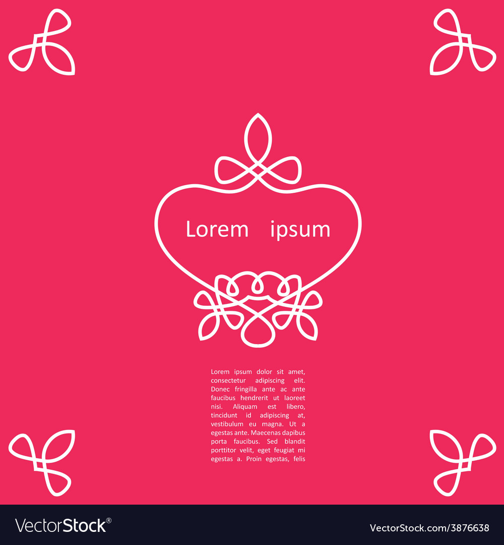Decorative elegant frame vector | Price: 1 Credit (USD $1)