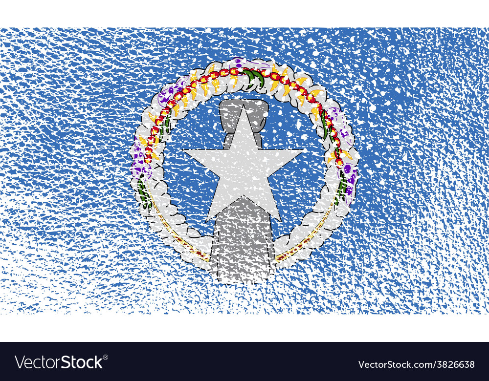 Flag of mariana islands with old texture vector | Price: 1 Credit (USD $1)