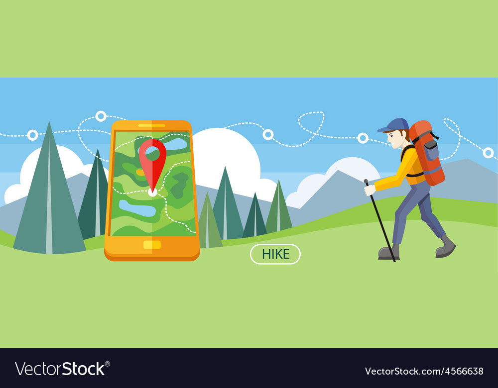 Hike concept vector | Price: 1 Credit (USD $1)