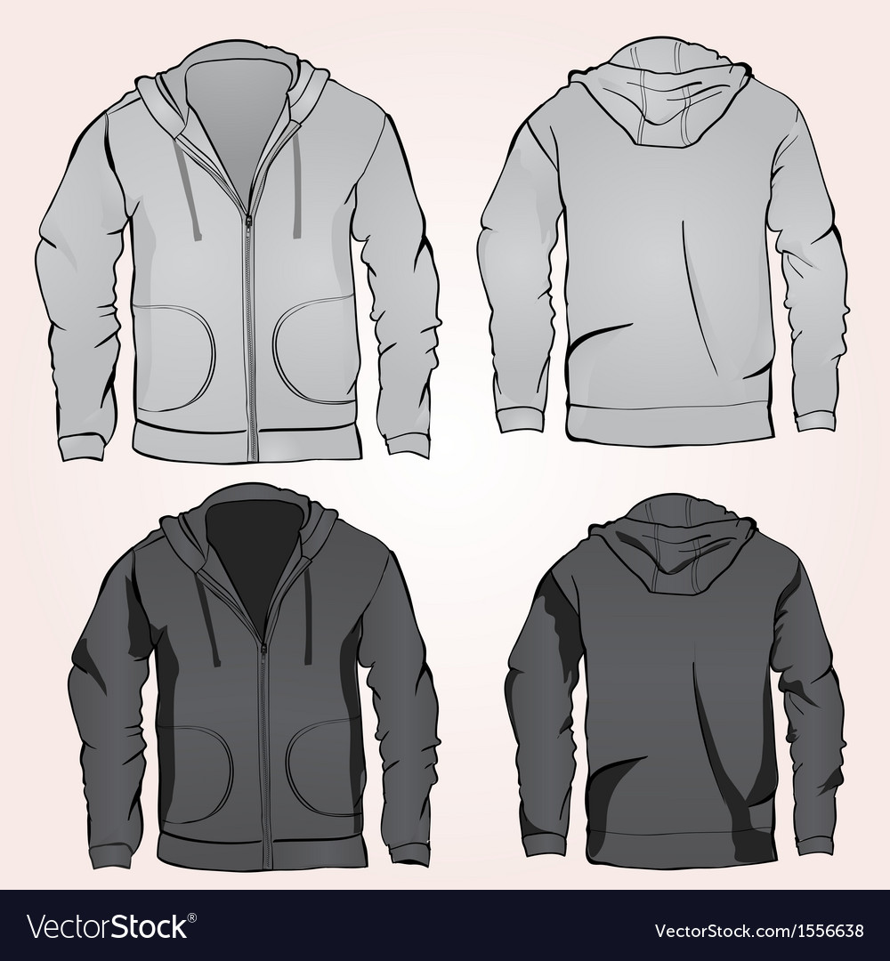 Hoodie sweatshirt template vector | Price: 1 Credit (USD $1)