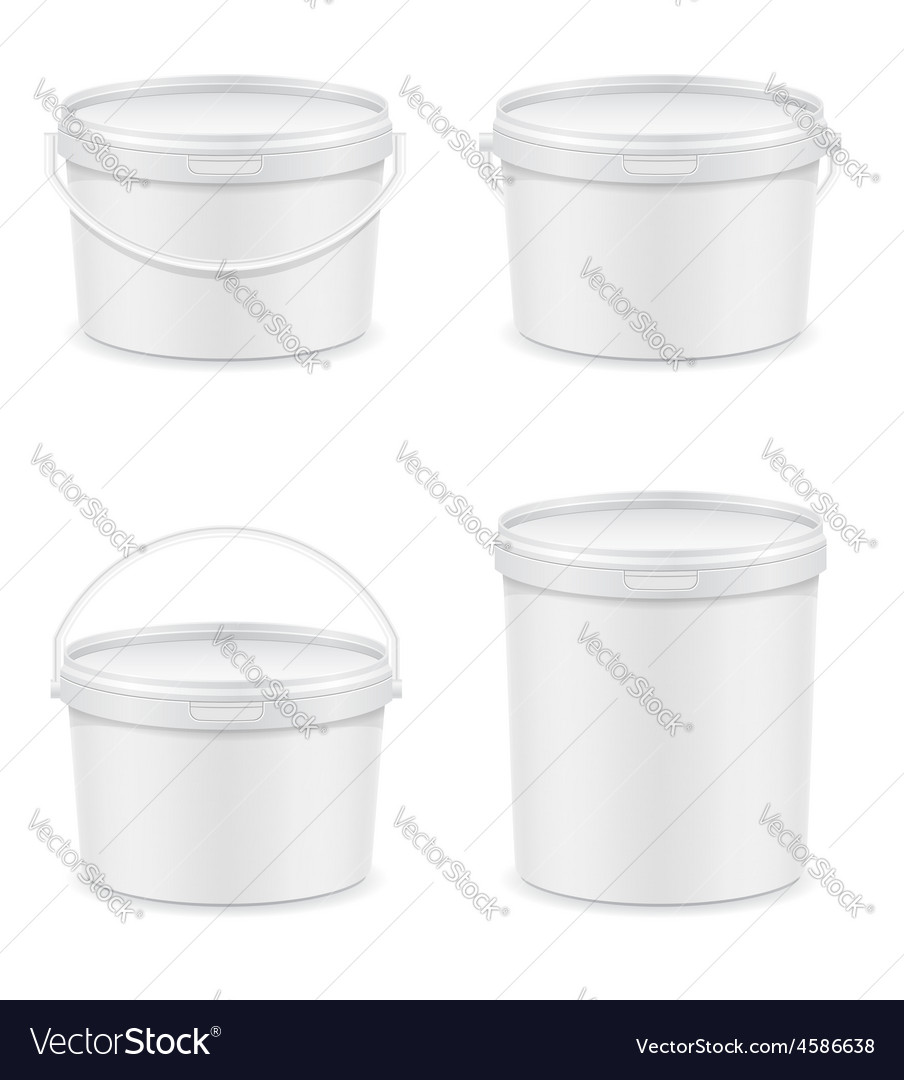 Plastic bucket for paint 04 vector | Price: 3 Credit (USD $3)