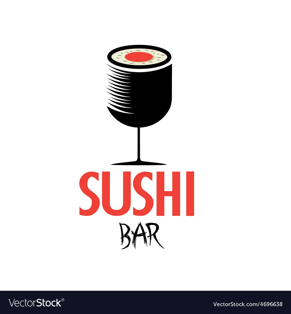 Sushi in the form of wineglass vector | Price: 1 Credit (USD $1)