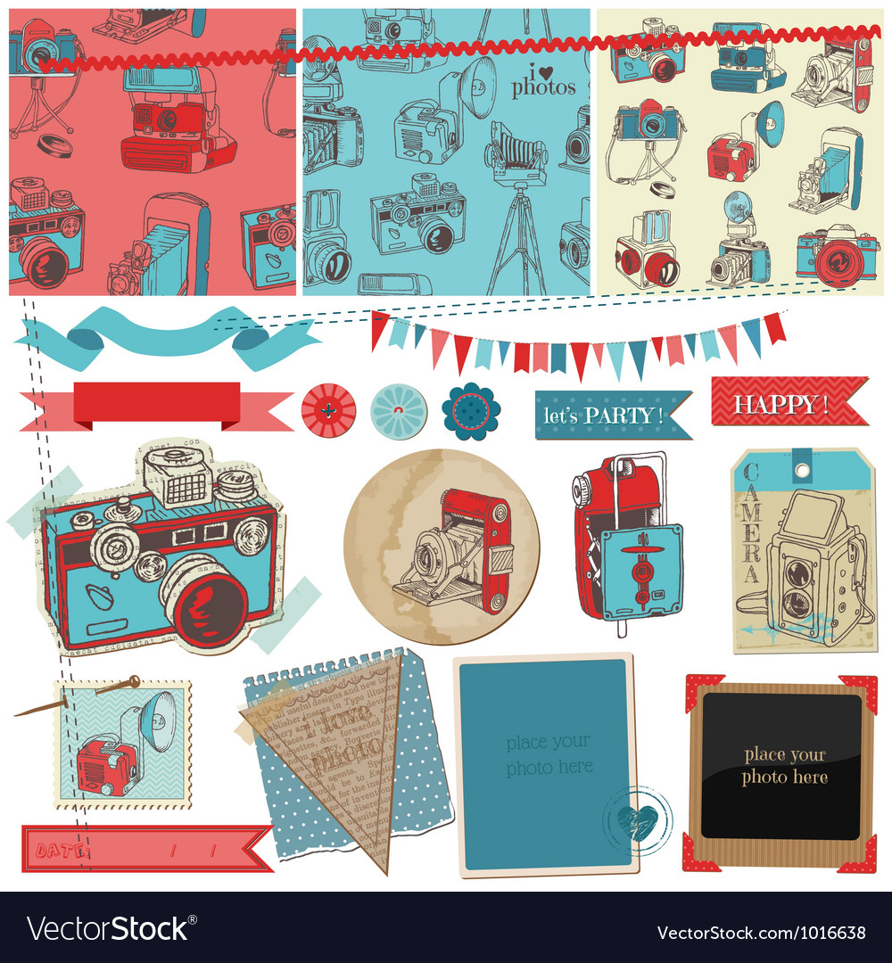 Vintage photo camera scrap vector | Price: 1 Credit (USD $1)