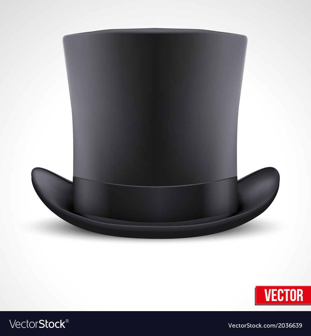 Black gentleman hat cylinder background vector | Price: 1 Credit (USD $1)