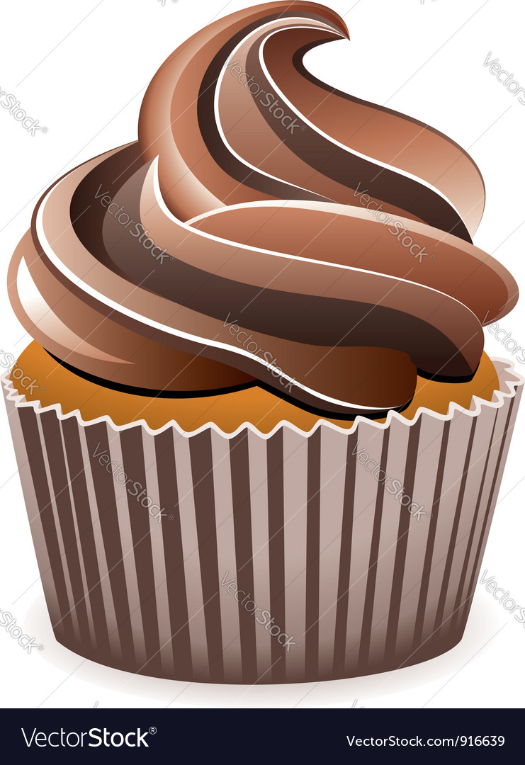 Chocolate cupcake vector | Price: 1 Credit (USD $1)