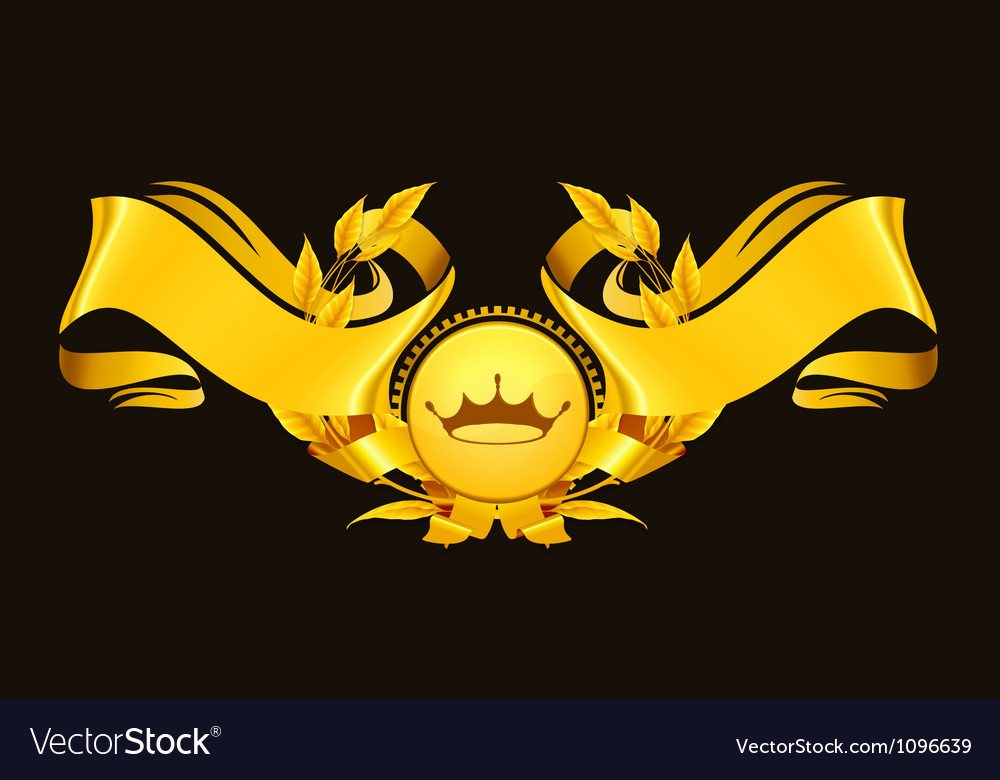 Design element emblem gold vector | Price: 1 Credit (USD $1)