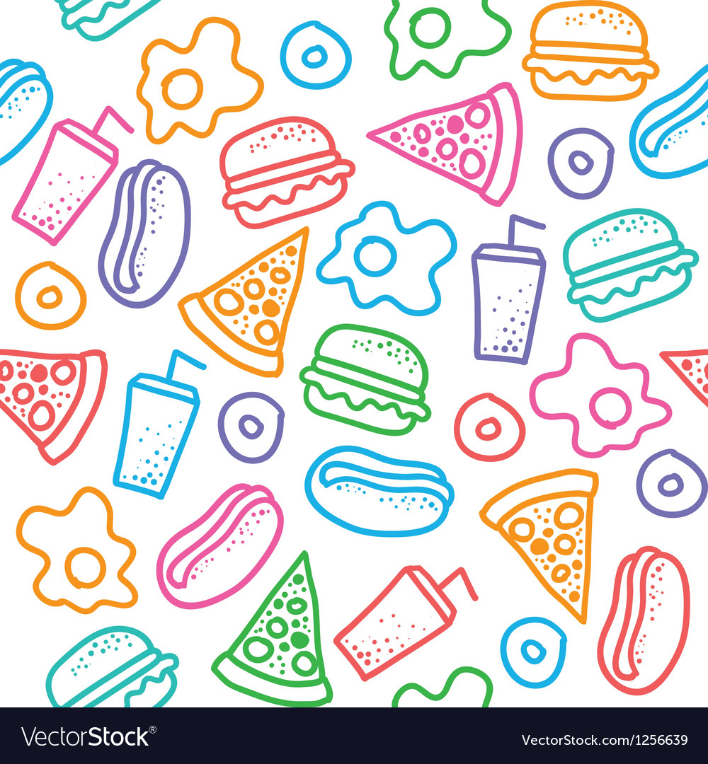 Fast food pattern vector | Price: 1 Credit (USD $1)