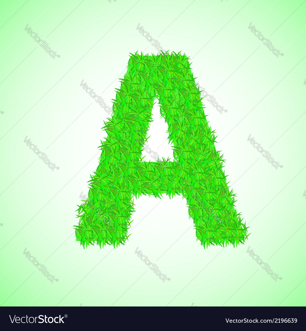 Grass letter a vector | Price: 1 Credit (USD $1)