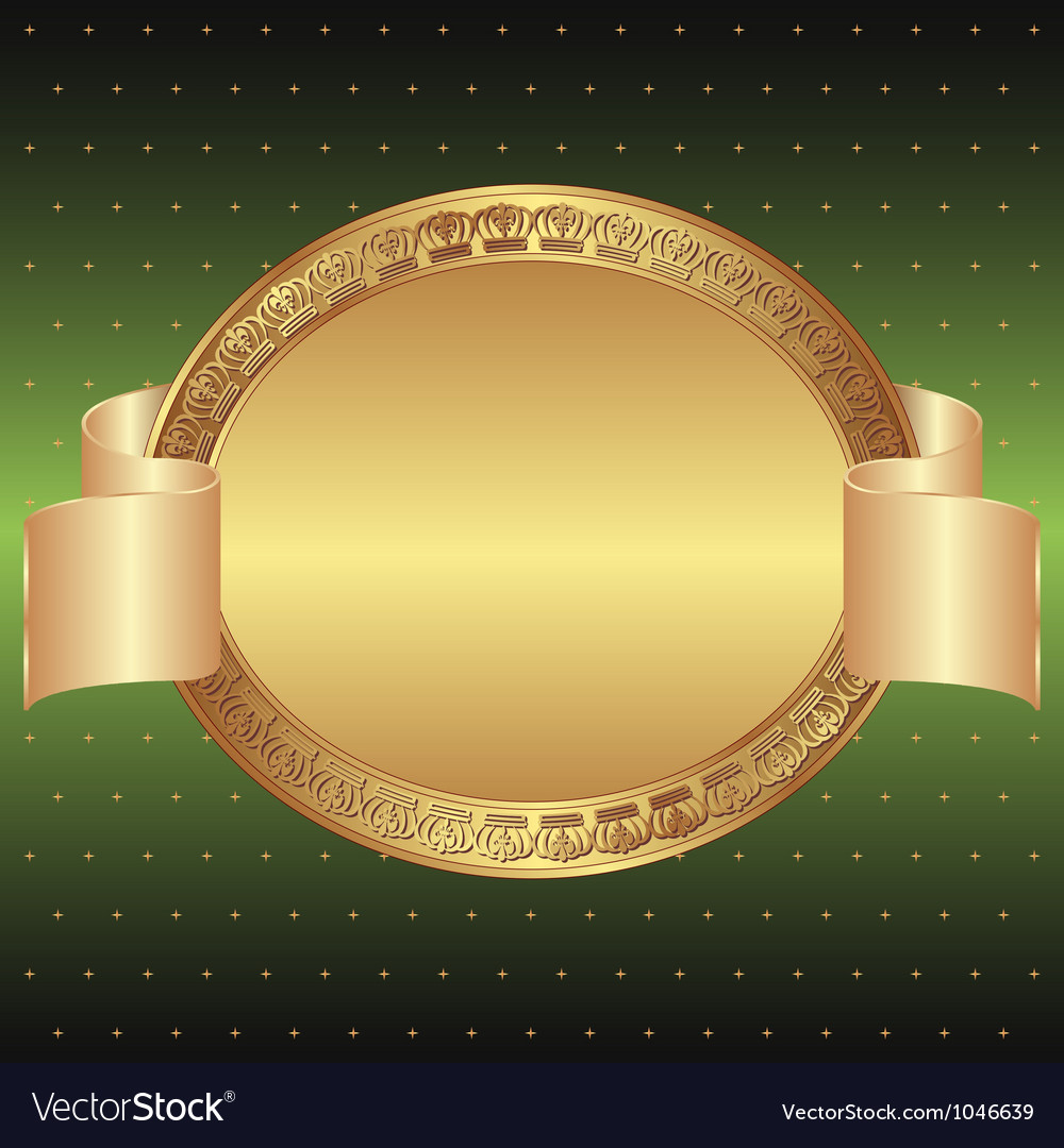 Green and gold background vector | Price: 1 Credit (USD $1)