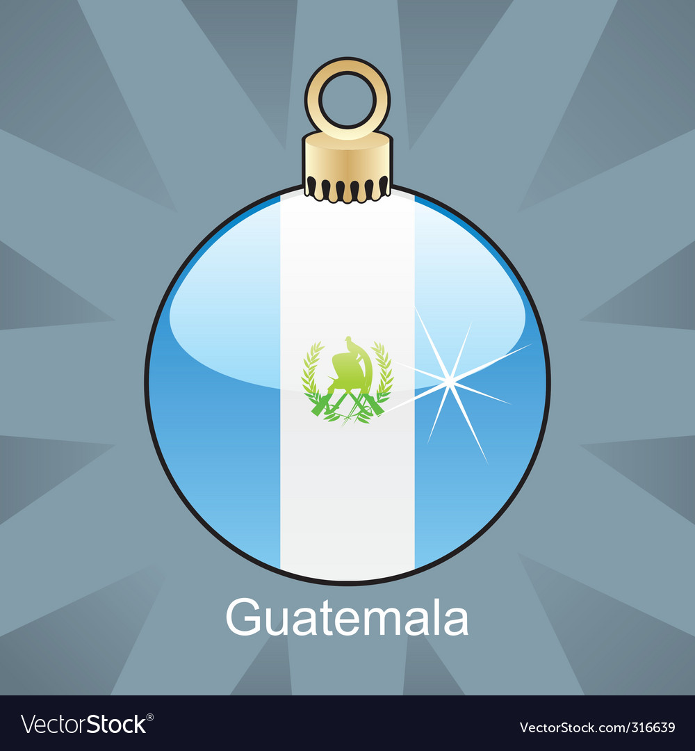 Guatemala flag on bulb vector | Price: 1 Credit (USD $1)