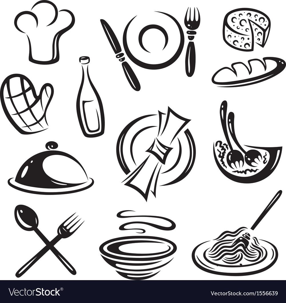 Kitchen cook chef hat vector | Price: 1 Credit (USD $1)