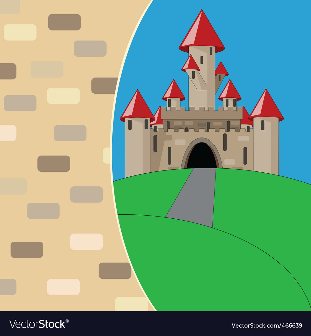 Medieval cartoon castle vector | Price: 1 Credit (USD $1)