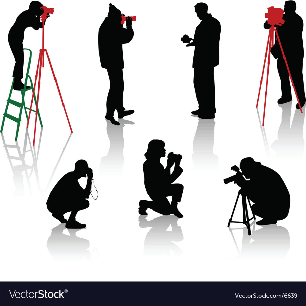 Photographers vector | Price: 1 Credit (USD $1)