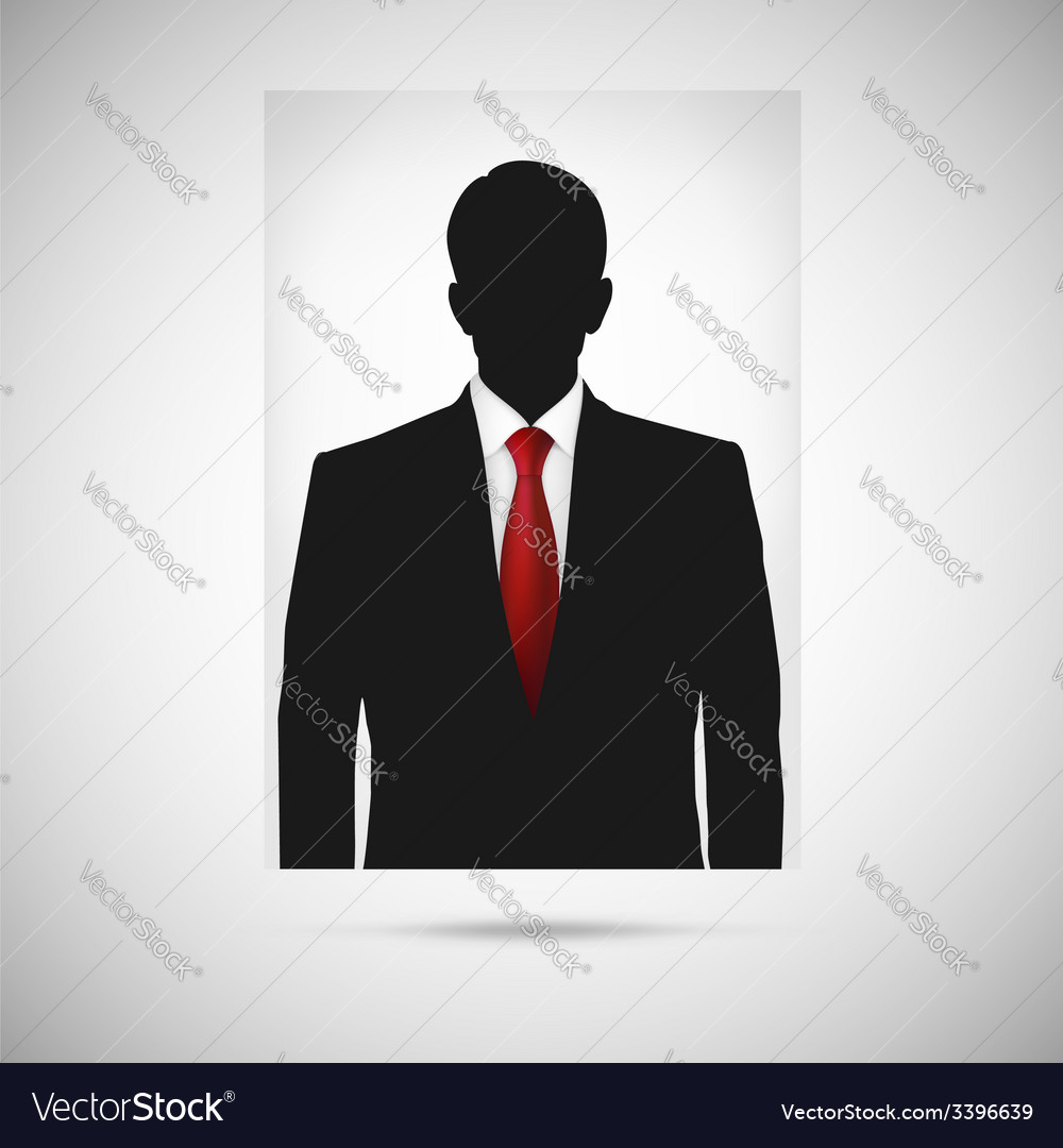 Profile picture whith red tie unknown person vector | Price: 1 Credit (USD $1)