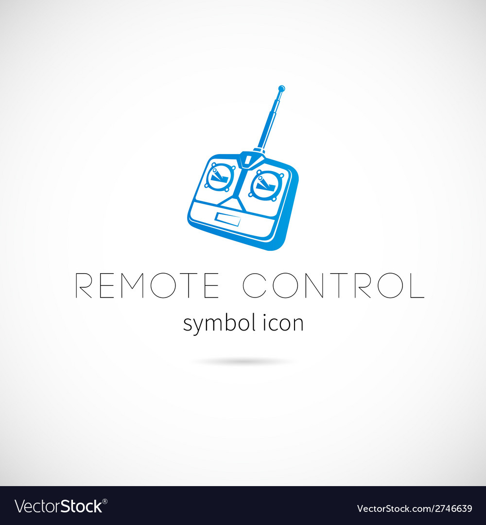 Remote control silhouette symbol icon or label vector | Price: 1 Credit (USD $1)