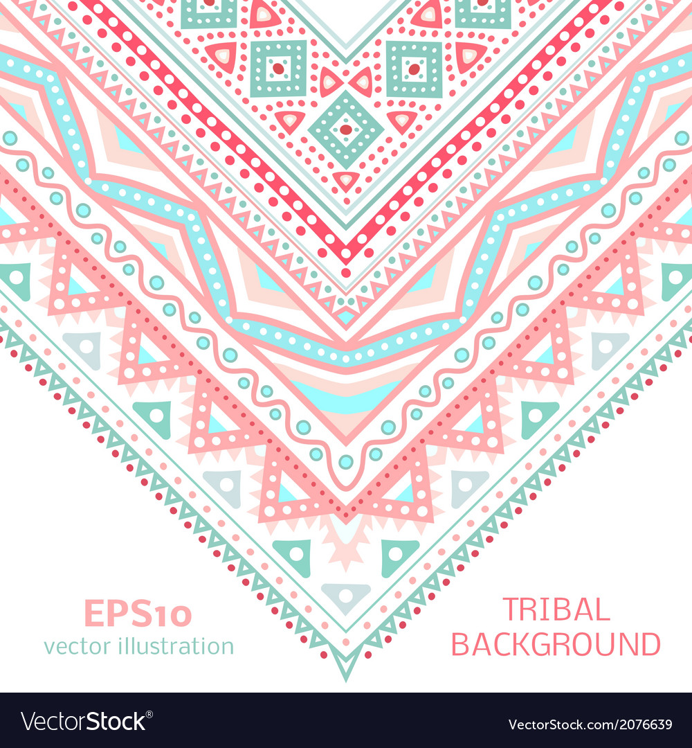 Tribal ethnic corner pattern for your cute vector | Price: 1 Credit (USD $1)