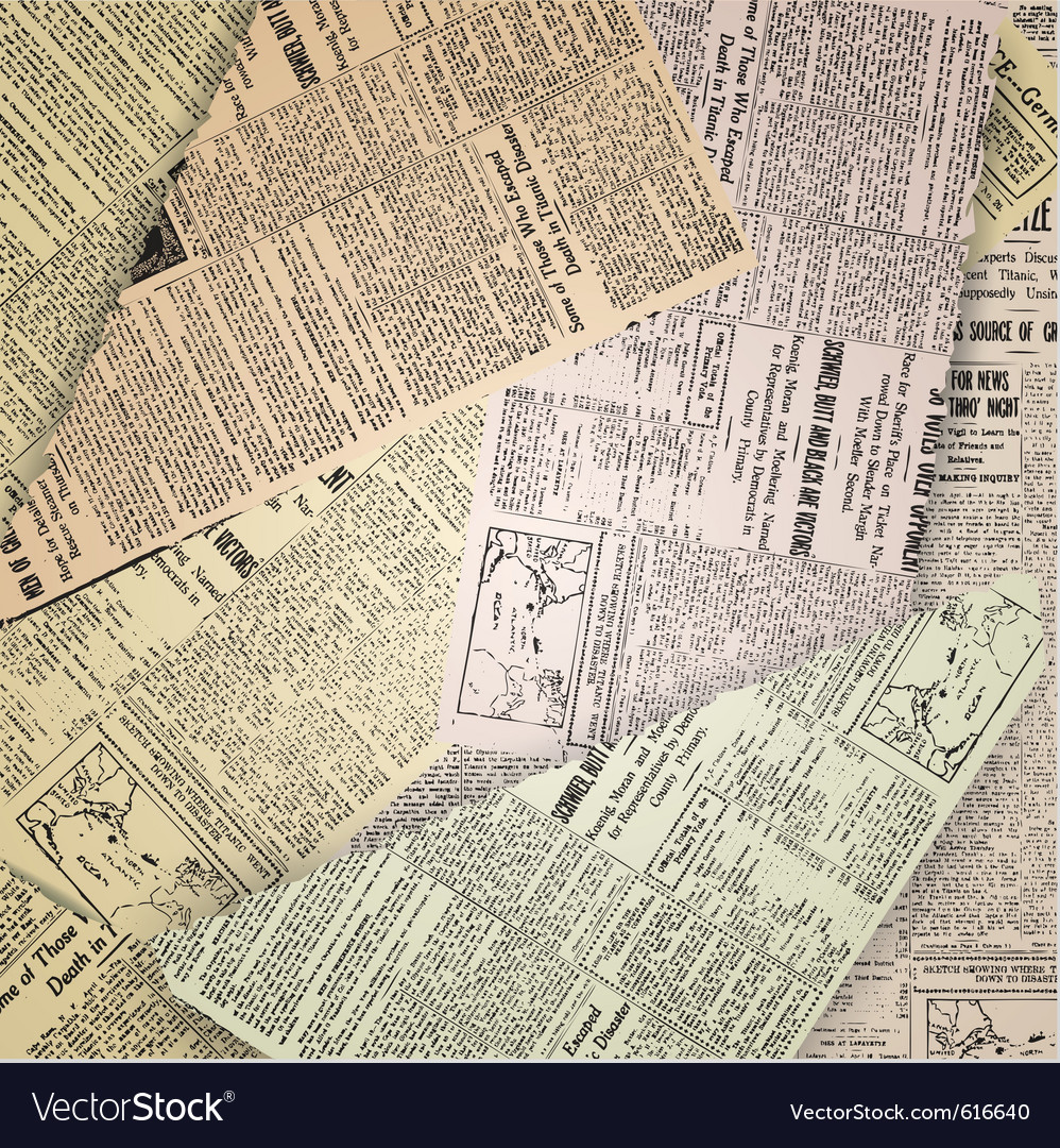 Abstract old newspaper vector | Price: 1 Credit (USD $1)