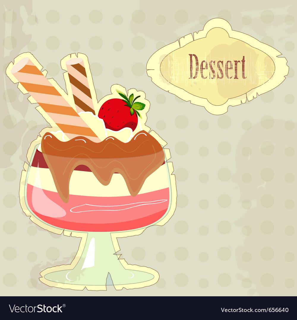 Dessert menu cover vector   Price: 1 Credit (USD $1)