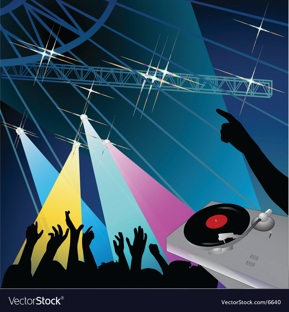 Disco night vector | Price: 3 Credit (USD $3)