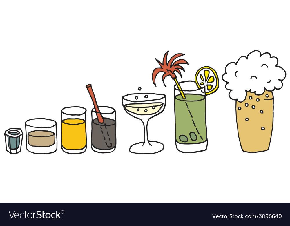 Drinks vector | Price: 1 Credit (USD $1)