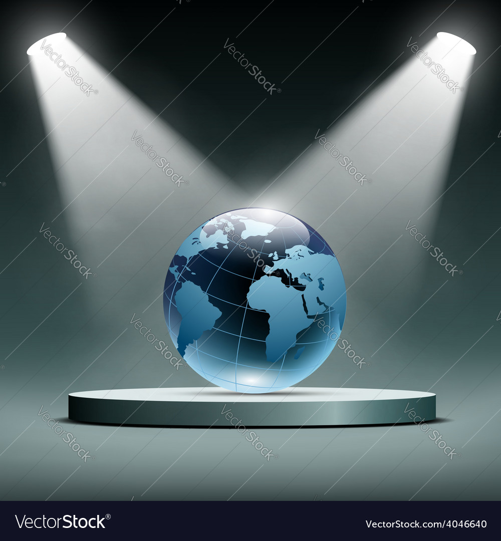 Earth is illuminated by floodlights vector | Price: 1 Credit (USD $1)