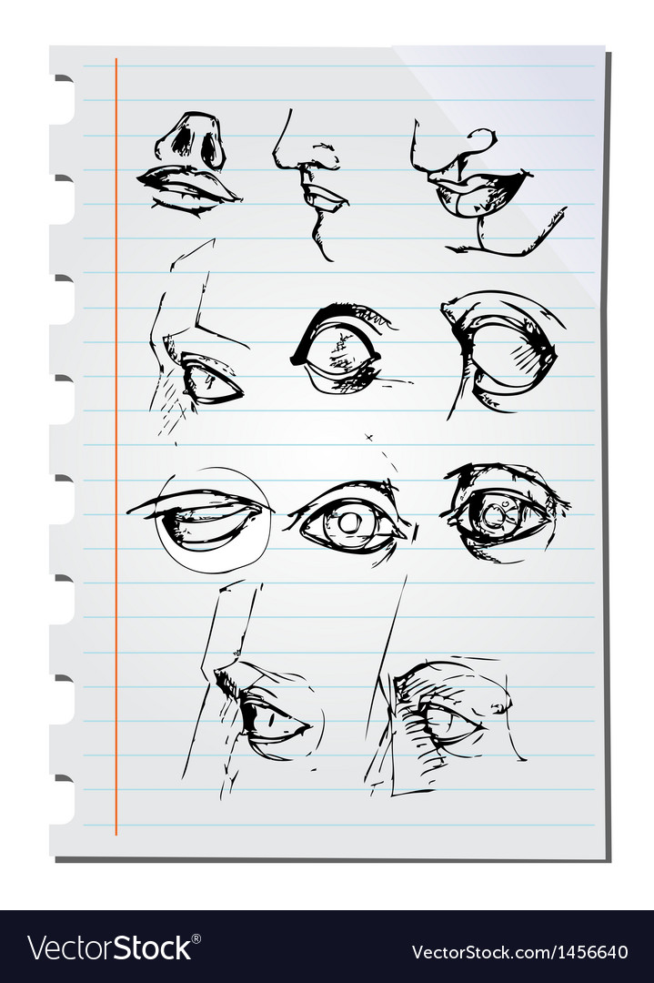 Eyes on paper vector | Price: 1 Credit (USD $1)
