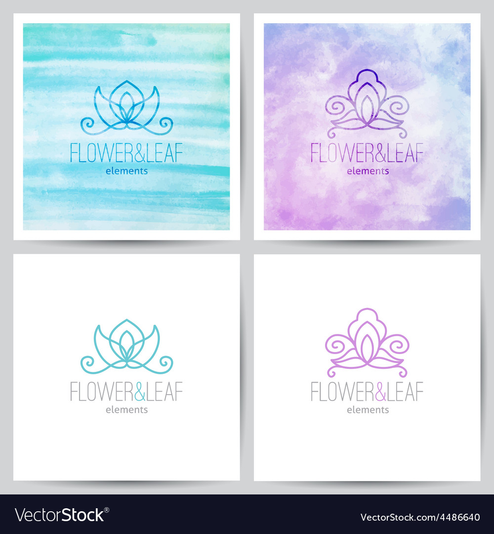 Floral logo set vector | Price: 1 Credit (USD $1)