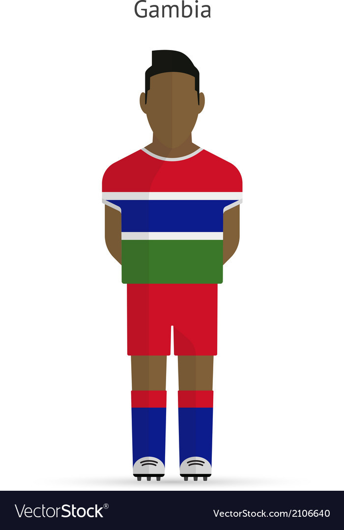 Gambia football player soccer uniform vector | Price: 1 Credit (USD $1)