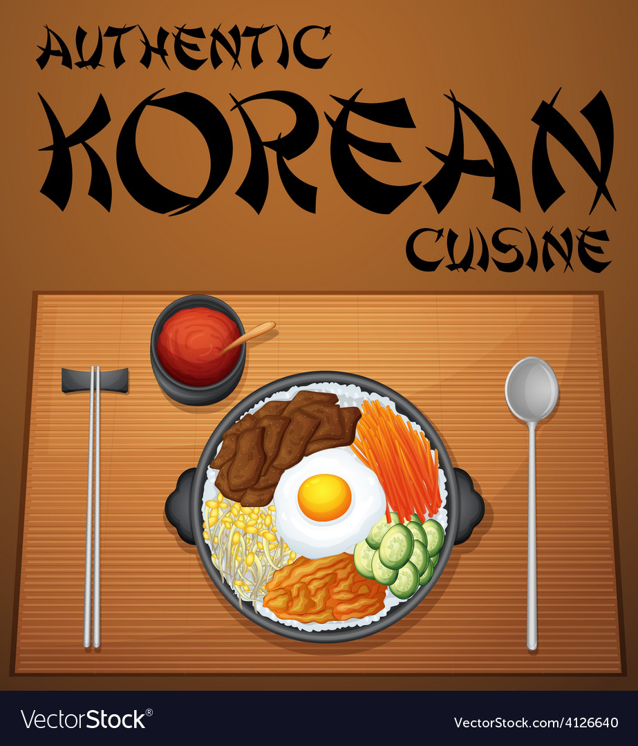 Korean food vector | Price: 1 Credit (USD $1)