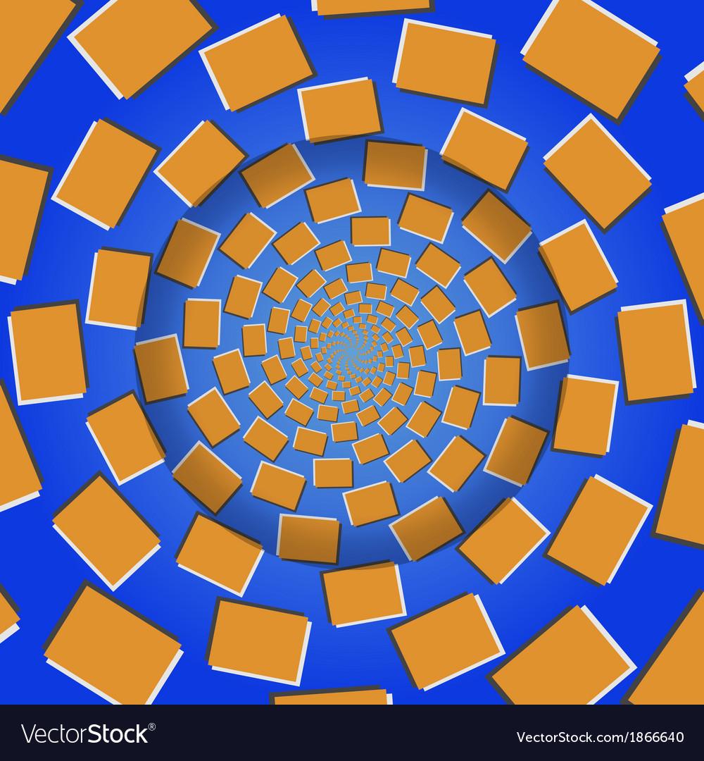 Rotating blocks optical seamless pattern vector | Price: 1 Credit (USD $1)