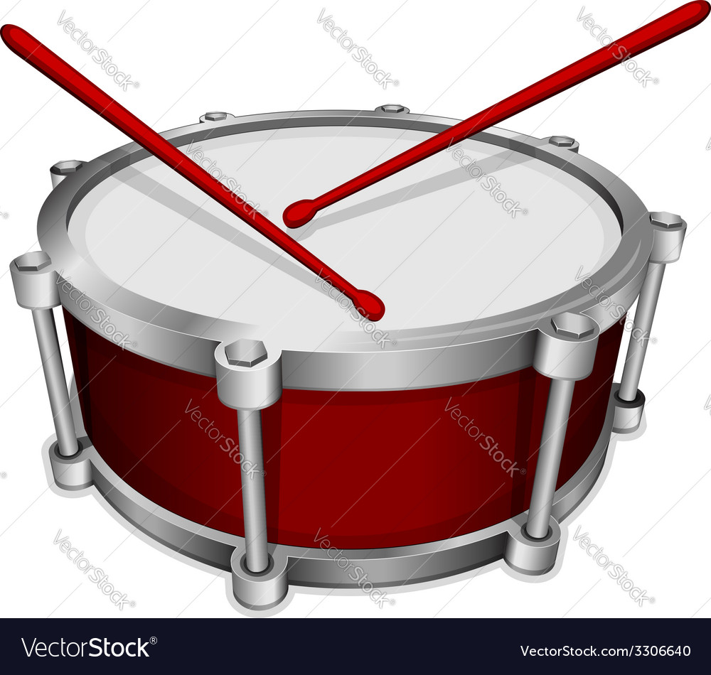 Small red drum vector | Price: 1 Credit (USD $1)