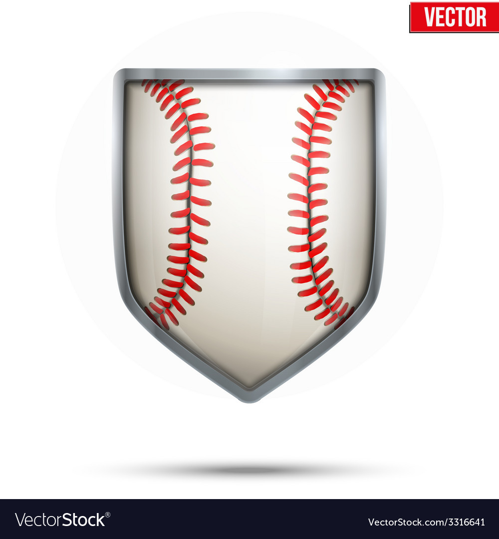 Bright shield in the baseball ball inside vector | Price: 1 Credit (USD $1)