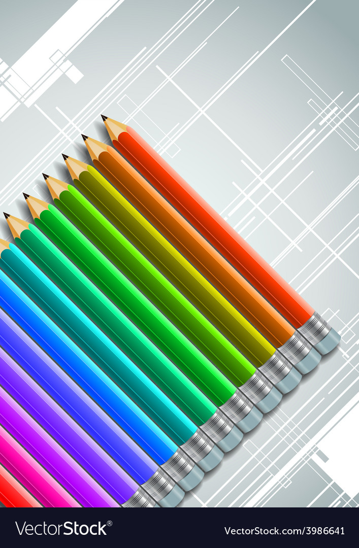 Colorful pencils design background vector | Price: 1 Credit (USD $1)