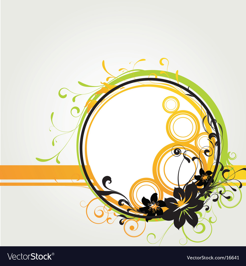 Floral graphic frame vector | Price: 1 Credit (USD $1)