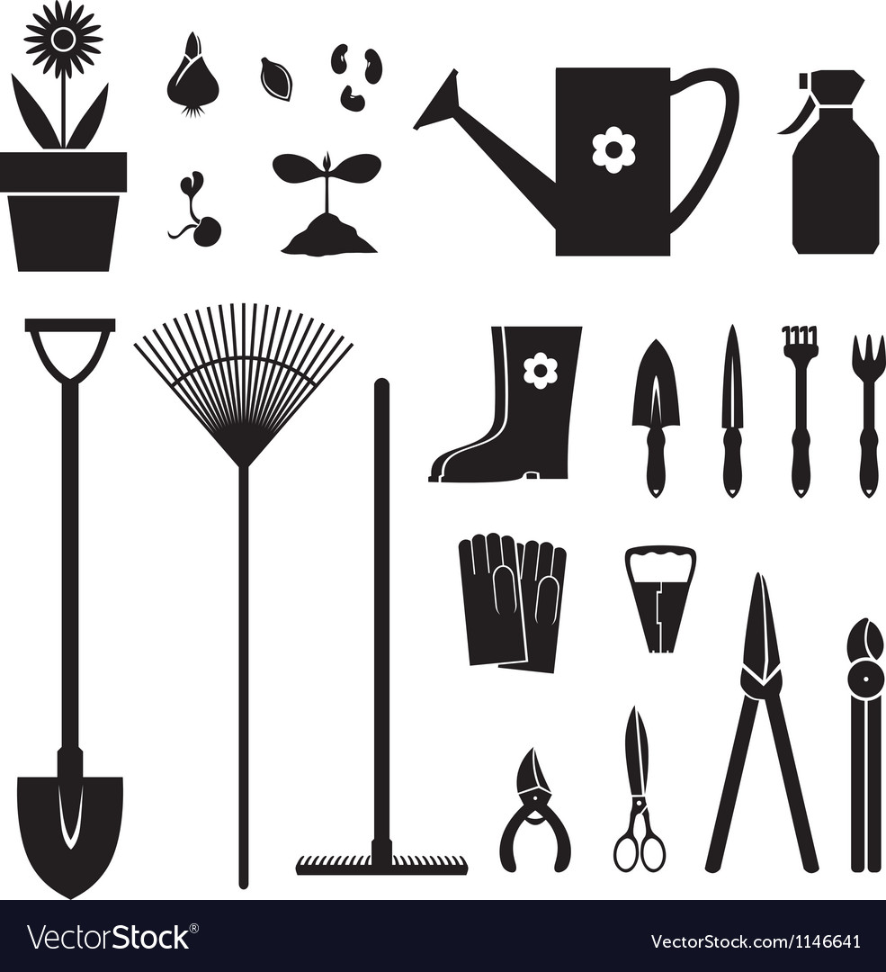 Garden equipment set vector | Price: 1 Credit (USD $1)