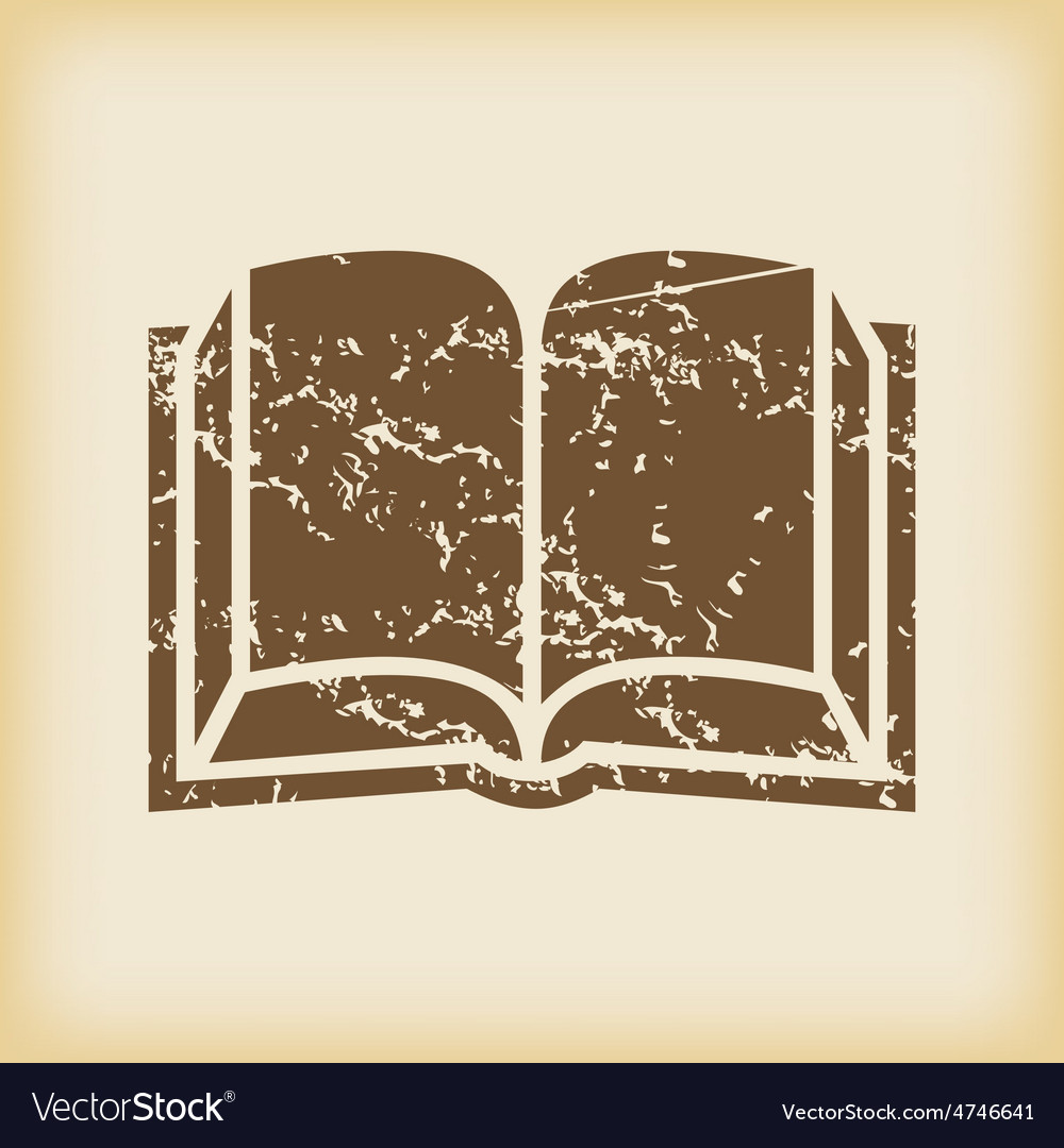 Grungy book icon vector | Price: 1 Credit (USD $1)