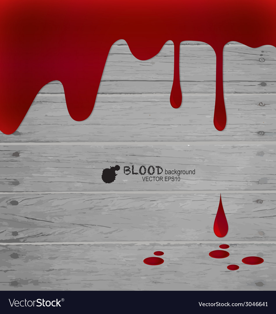 Happy halloween blood dripping on wood wall vector | Price: 1 Credit (USD $1)