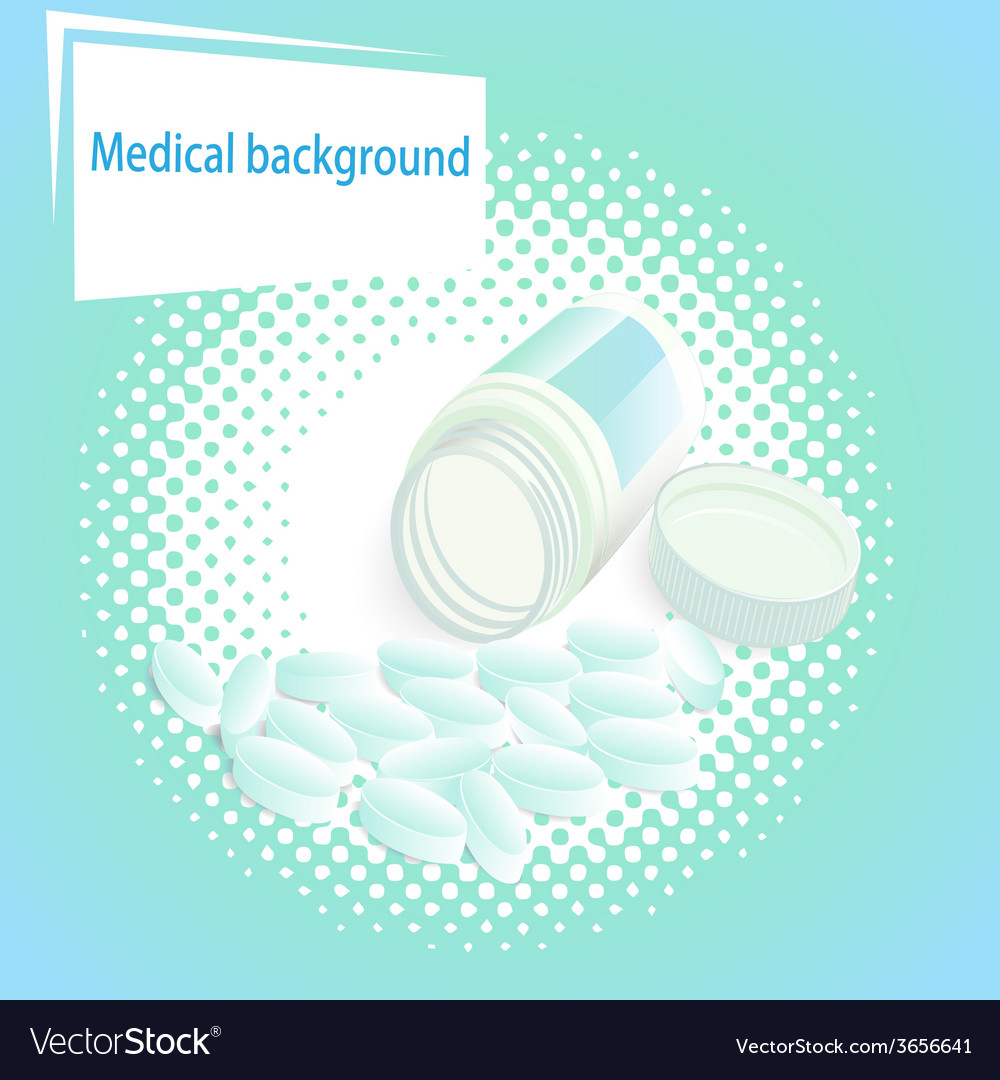 Medical background with pills vector | Price: 1 Credit (USD $1)