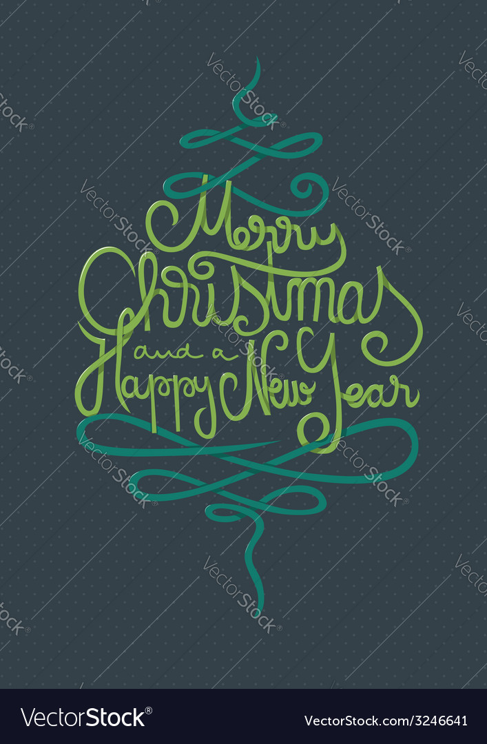 Merry christmas and a happy new year card vector | Price: 1 Credit (USD $1)