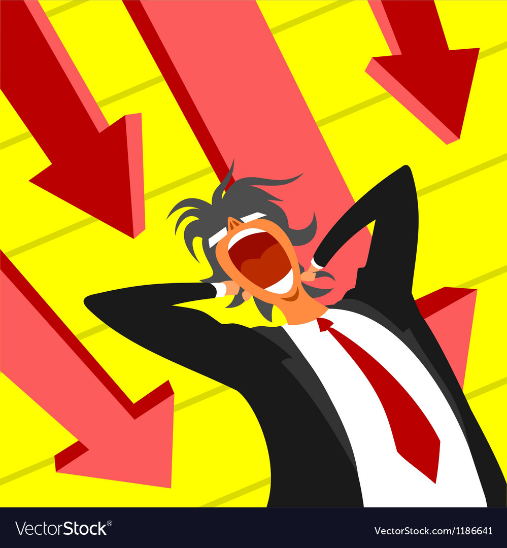 Panic at work vector | Price: 1 Credit (USD $1)