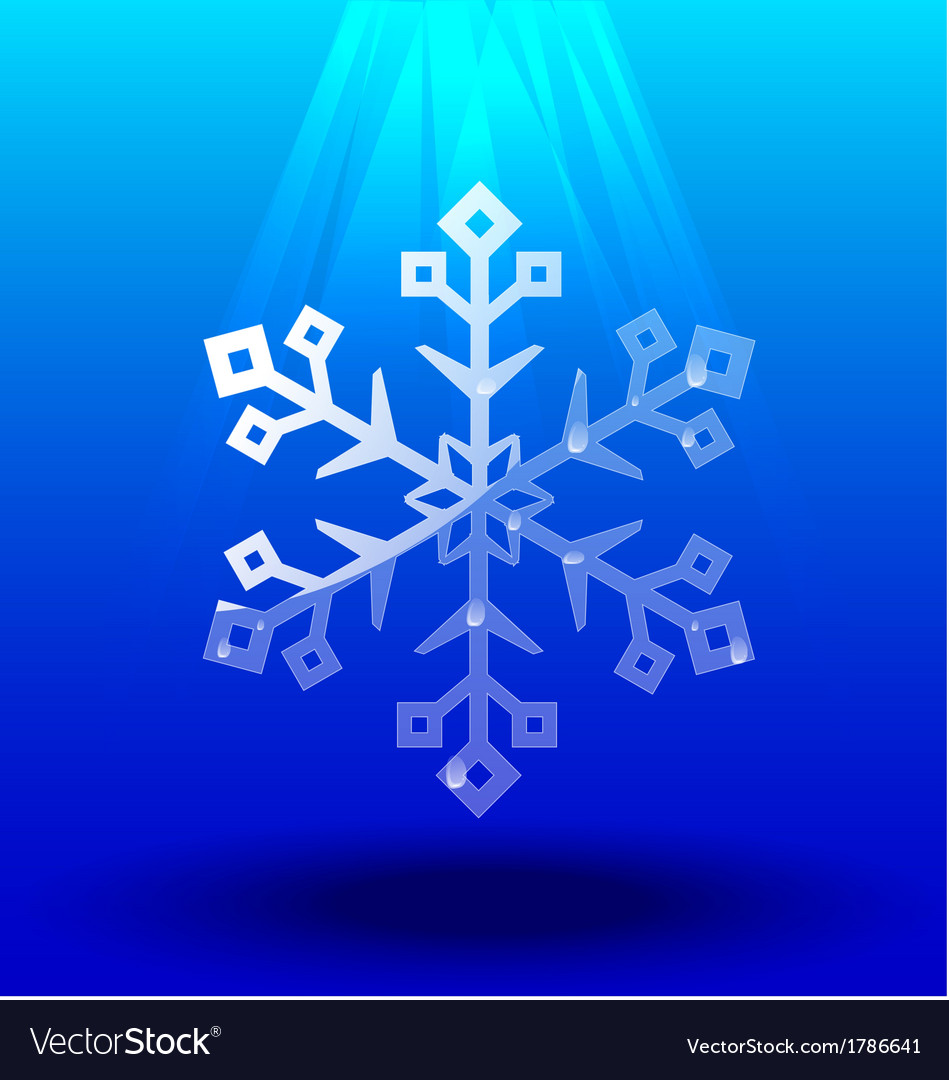Snowflakes crystal under light vector | Price: 1 Credit (USD $1)