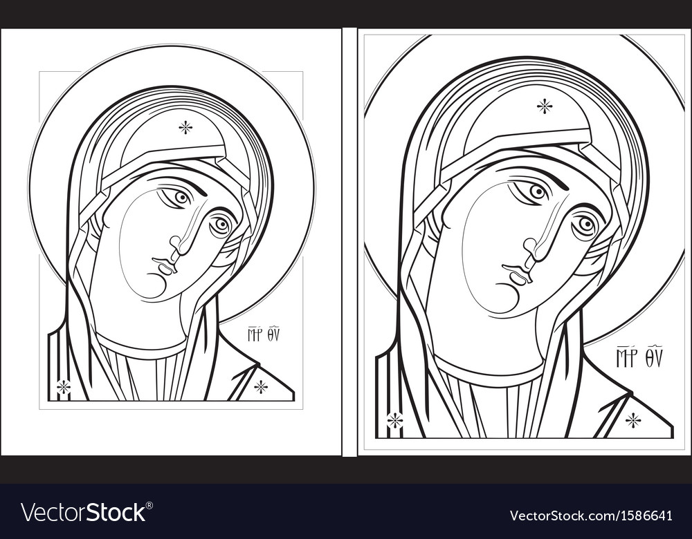 Virgin oplechnaya outline7 8 vector | Price: 1 Credit (USD $1)