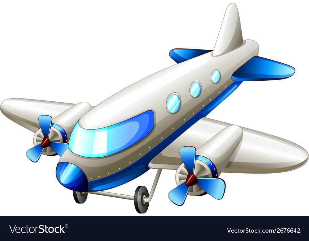 A vintage blue plane vector | Price: 1 Credit (USD $1)
