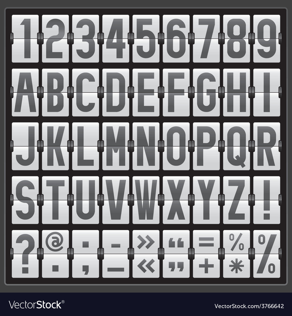 Alphabet of mechanical panel vector | Price: 1 Credit (USD $1)