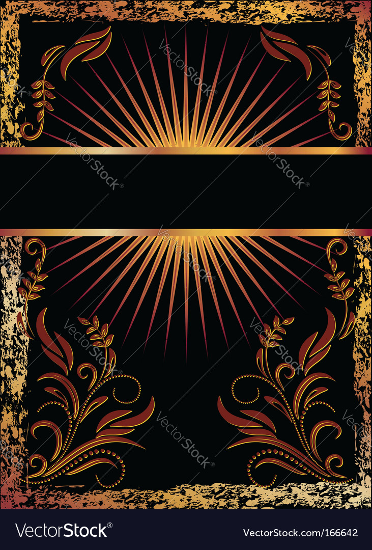 Black background with copper ornament vector | Price: 1 Credit (USD $1)