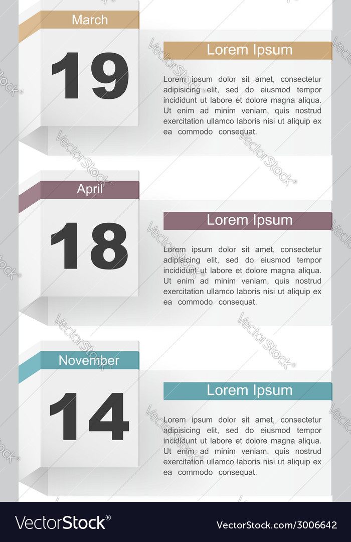 Events calendar vector | Price: 1 Credit (USD $1)
