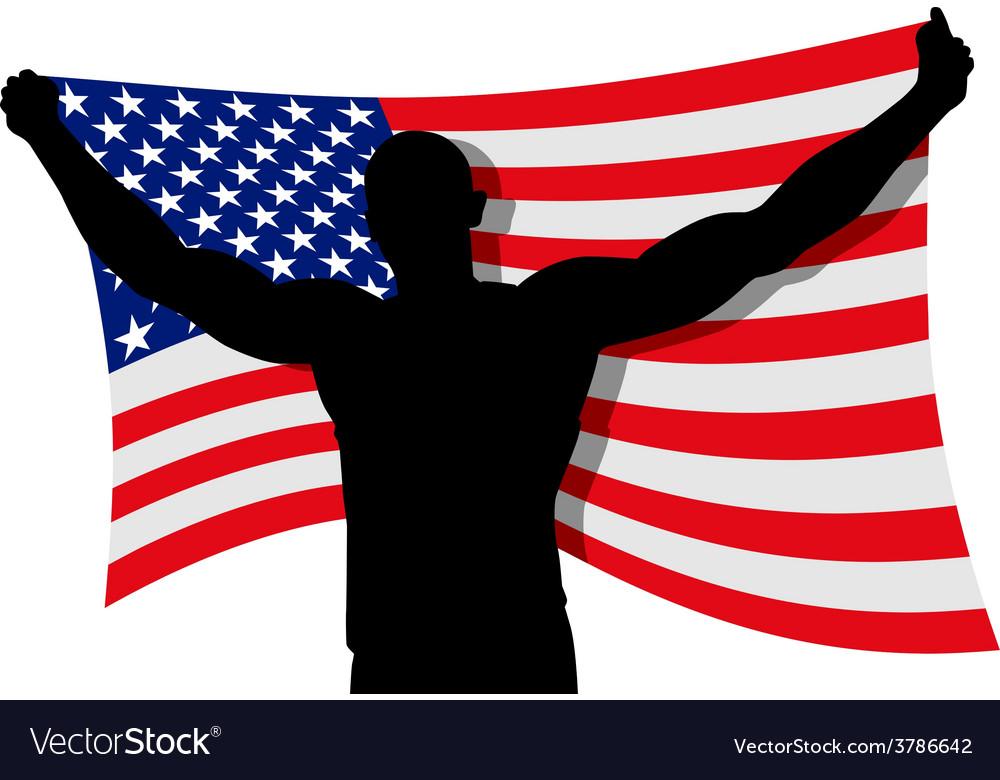 Flag bearer vector | Price: 1 Credit (USD $1)