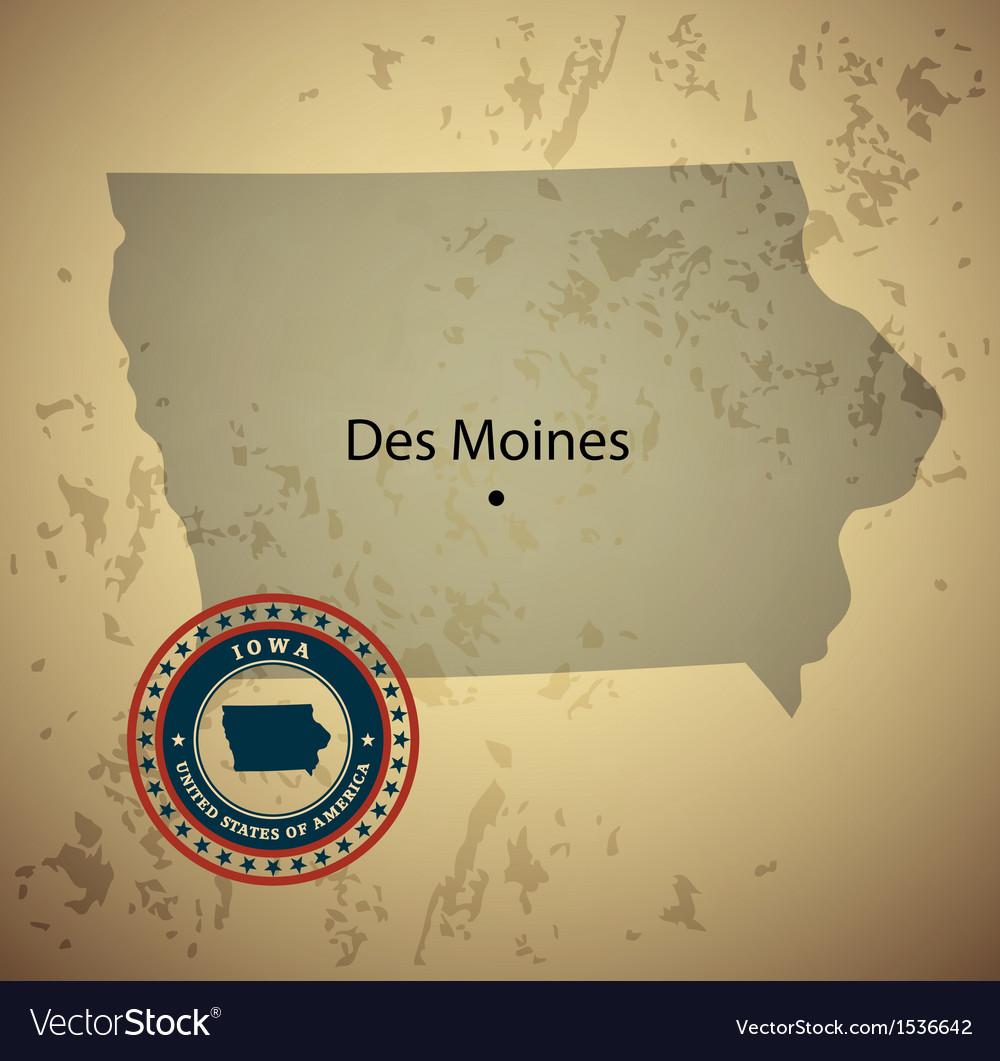 Iowa vector | Price: 1 Credit (USD $1)