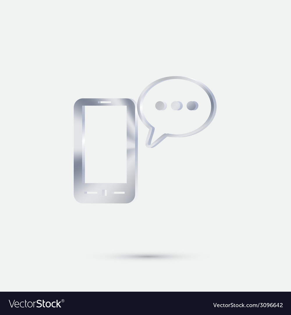 Smartphone with cloud of speaking dialogue vector   Price: 1 Credit (USD $1)