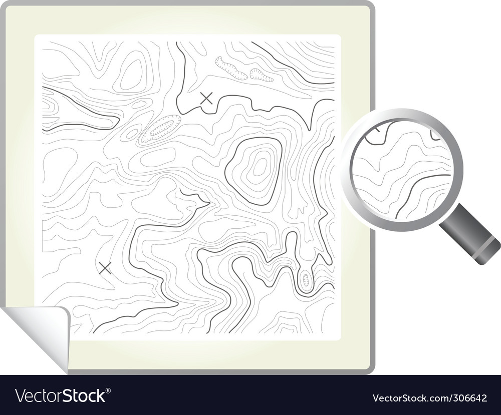 Topographic map vector | Price: 1 Credit (USD $1)